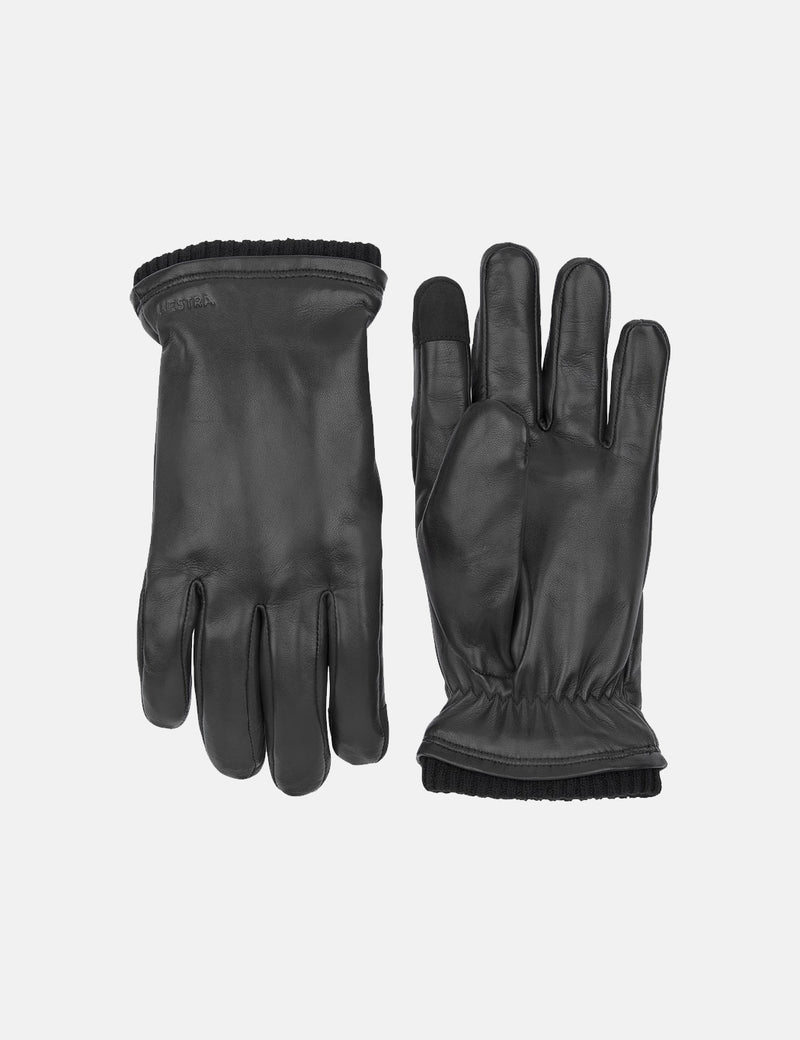 Hestra John Gloves (Hairsheep Leather) - Black