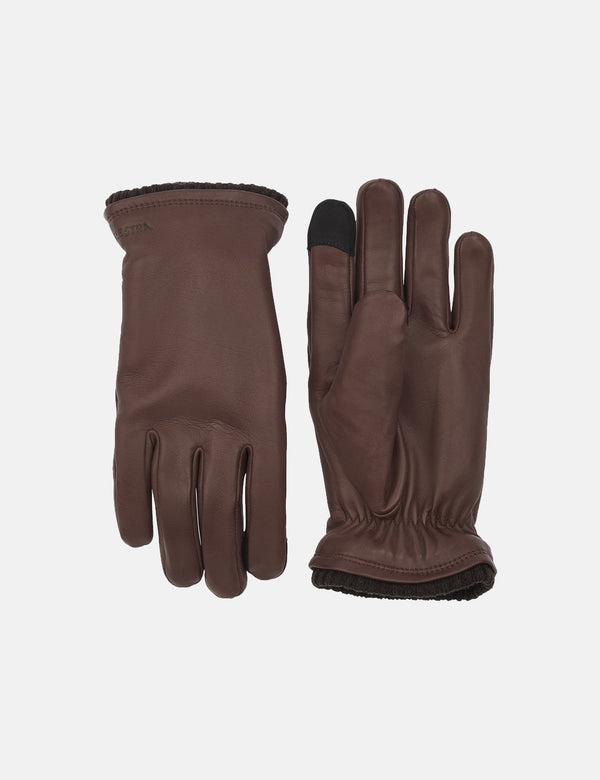 Hestra John Gloves (Hairsheep Leather) - Brown