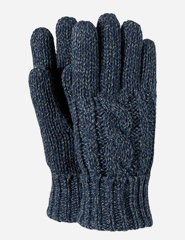 Barts Twister Gloves - Navy Blue