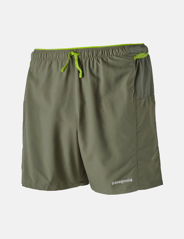 "Patagonia Strider Pro Shorts (5"") - Industrial Green"