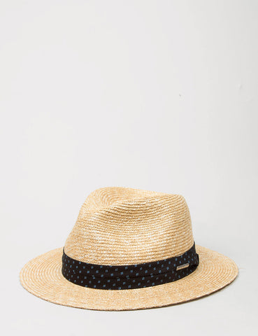 Stetson Reidsville Wheat Straw Trilby Hat - Natural