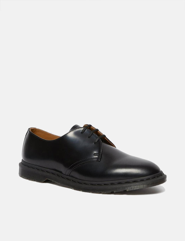 Dr Martens Archie II Shoe (25009001) - Black Polished Smooth