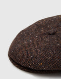 Bailey Galvin Tweed Newsboy Cap - Dark Brown