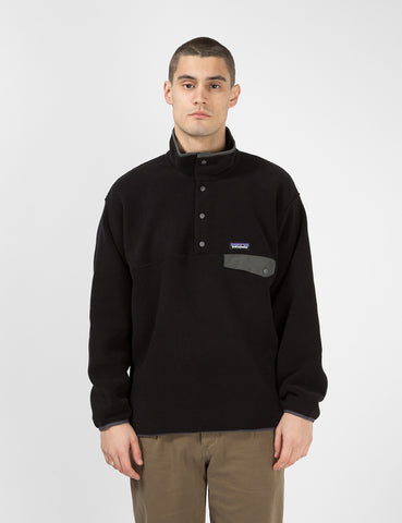 Patagonia Synchilla Snap-T Pullover - Black/Forge Grey