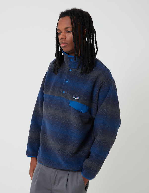 Patagonia Synchilla Snap-T Fleece Pullover - Gem Stripe/New Navy