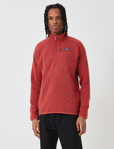 Patagonia M's Better Zip Sweatshirt - New Adobe Red
