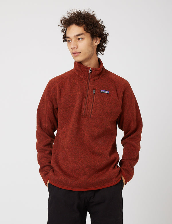 Polaire Patagonia Better Sweater 1/4 Zip - Barn Red