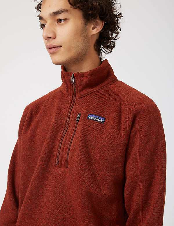 Patagonia Better Sweater 1/4 Zip Fleece - Barn Red