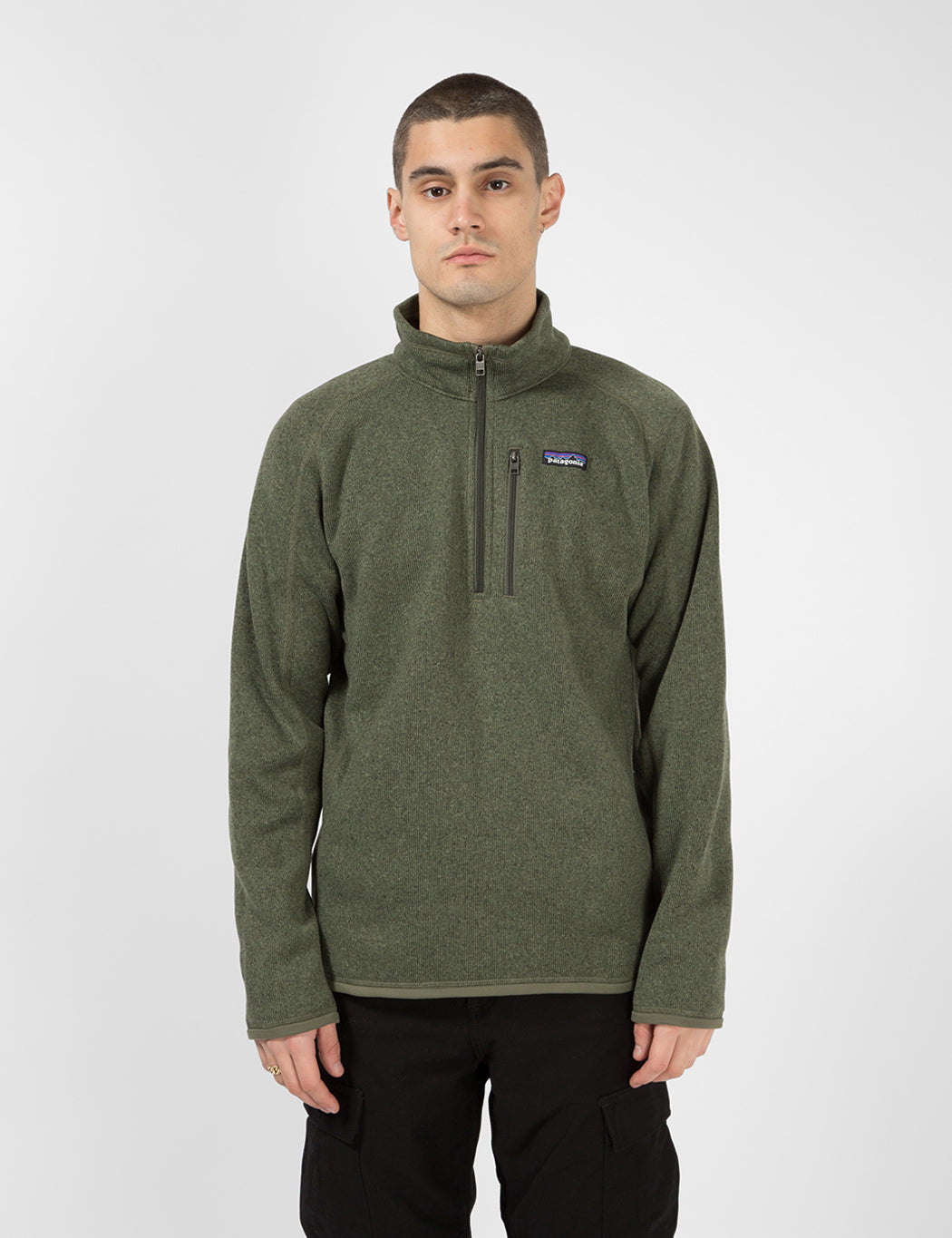 Patagonia Better Sweater 1/4 Zip - Industrial Green | URBAN EXCESS.