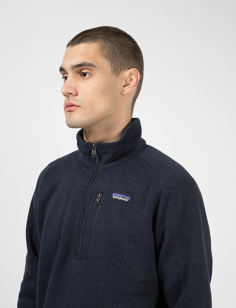 Patagonia Better Sweater 1/4 Zip Fleece - New Navy Blue