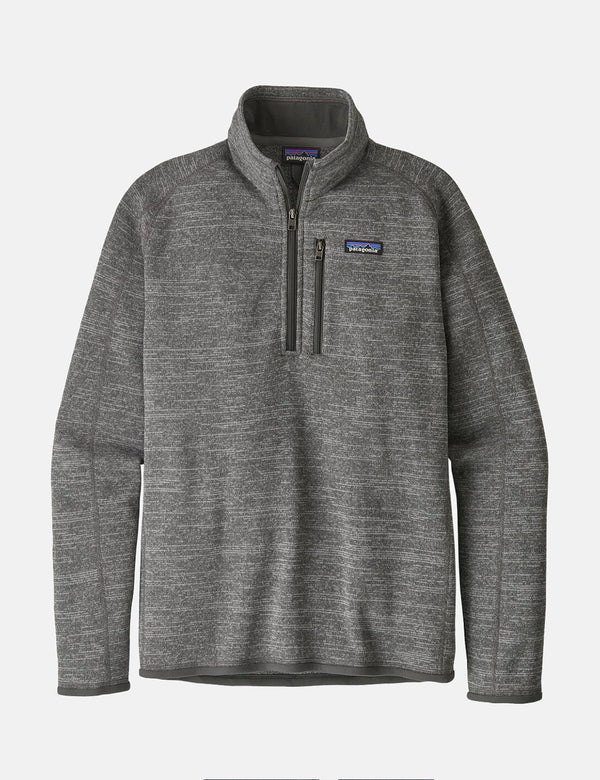 Patagonia Better Sweater 1/4 Zip Fleece - Nickel Grey
