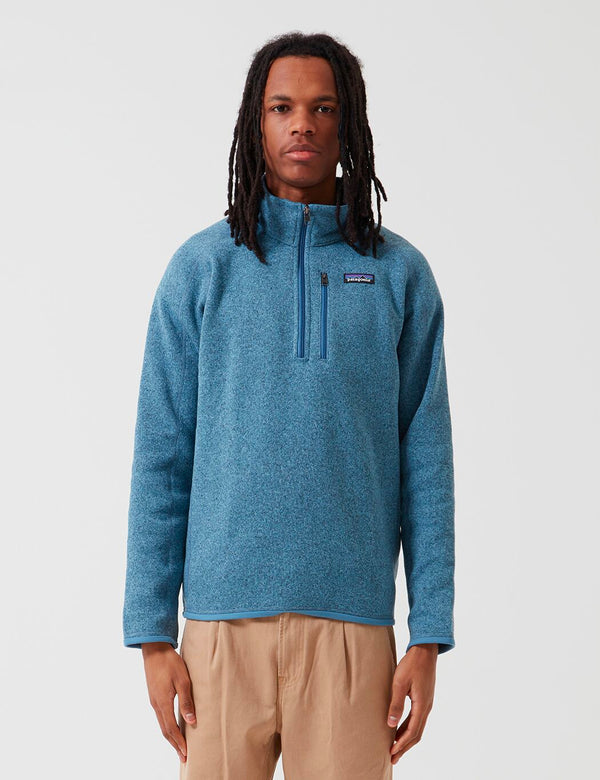 Patagonia Better Sweater 1/4 Zip Fleece - Pigeon Blue