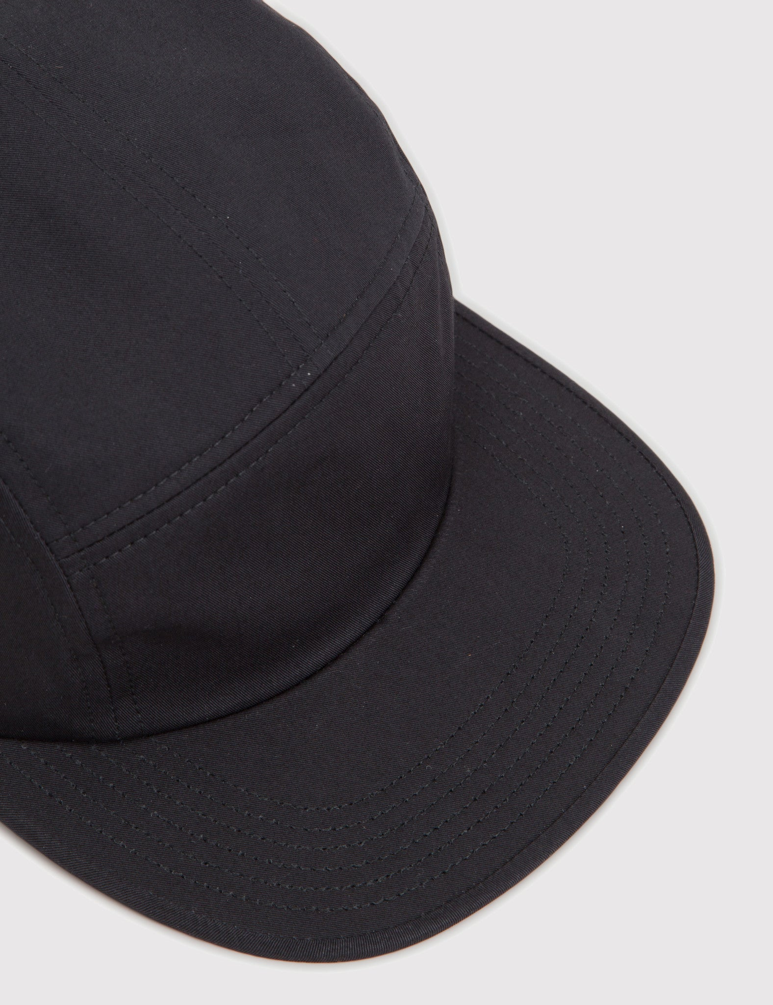 Norse Projects Cotton Gabardine 5 Panel Cap - Black
