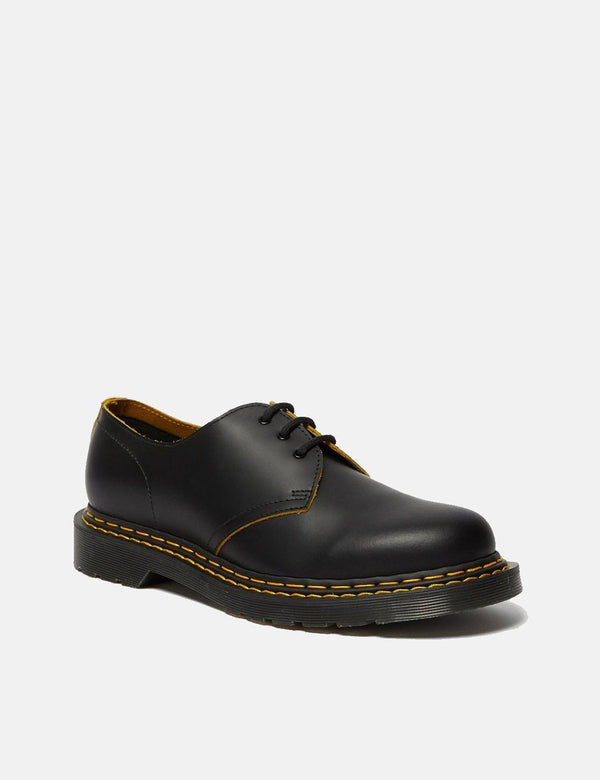 Dr Martens 1461 Double Stitch Shoe (26101032) - Black/Yellow