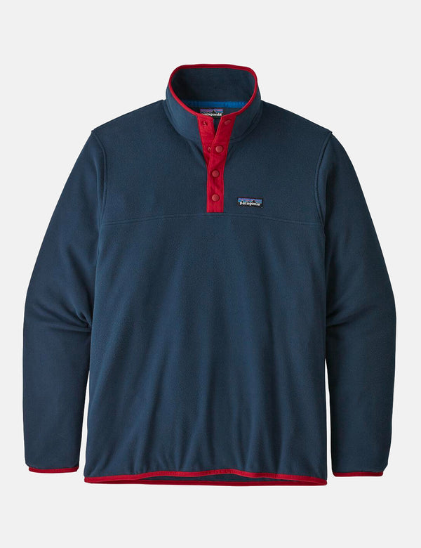 Patagonia Micro D Snap-T Pullover - New Navy w/Classic Red