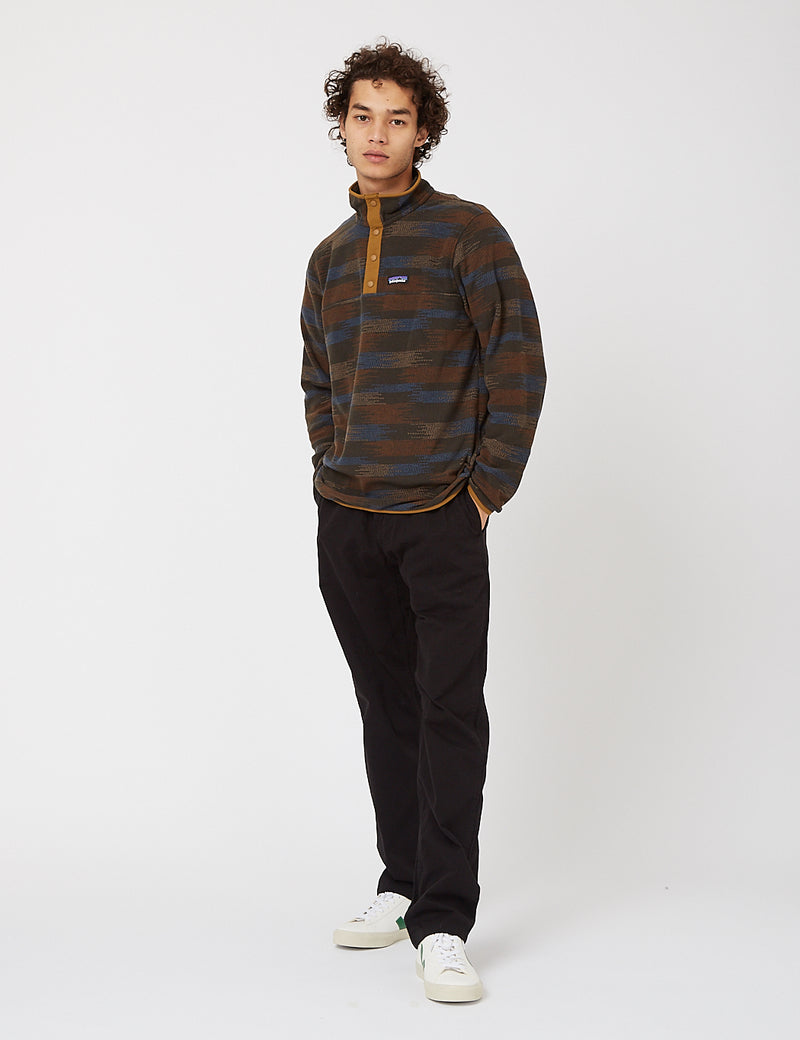Patagonia Micro D Snap-T P/O - Native Seeds: Industrial Green