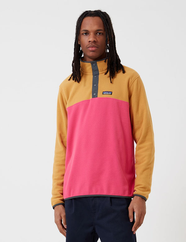 Patagonia Micro D Snap-T Pullover - Ultra Pink