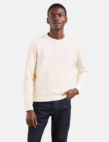 Levis Made & Crafted Crewneck Sweatshirt - Pristine Heather Ecru
