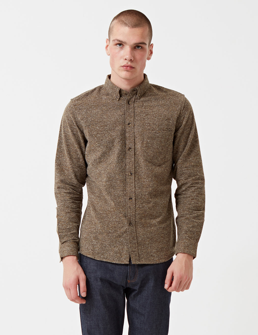 Levis Made & Crafted Standard Shirt - Brown Donegal