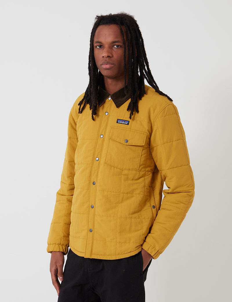 Patagonia Isthmus Quilted Shirt Jacket - Buckwheat Gold