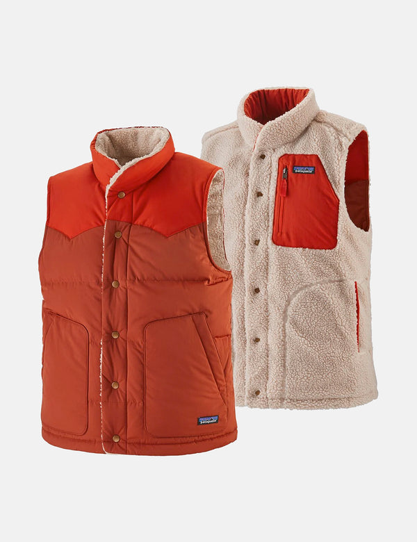 Patagonia Reversible Bivy Down Vest - Barn Red