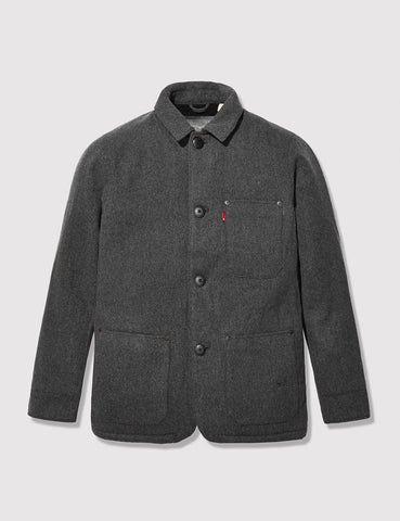 Levis Engineers Wool Coat - Black Heather