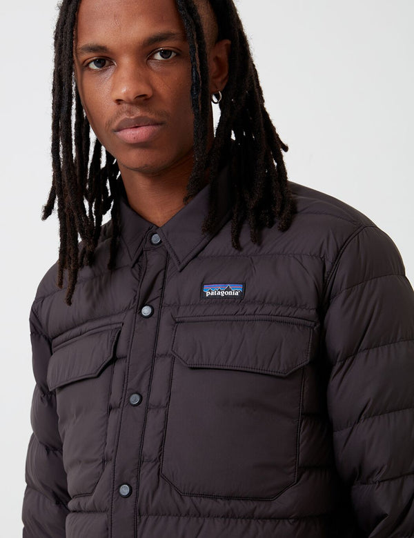Patagonia Silent Down Shirt Jacket - Black