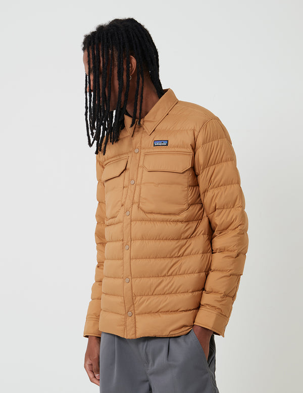 Patagonia Silent Down Shirt Jacket - Nest Brown
