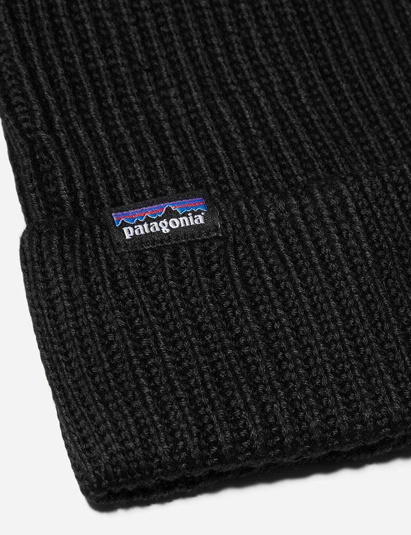 Patagonia Fisherman's Rolled Beanie Hat - Black