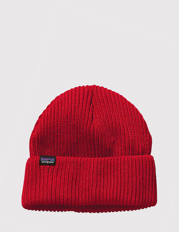 Patagonia Fisherman's Rolled Beanie Hat - French Red