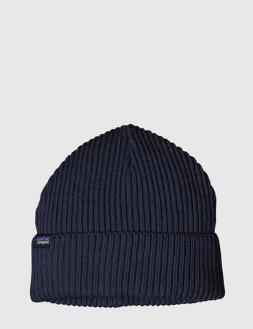 Patagonia Fisherman's Rolled Beanie Hat - Navy Blue