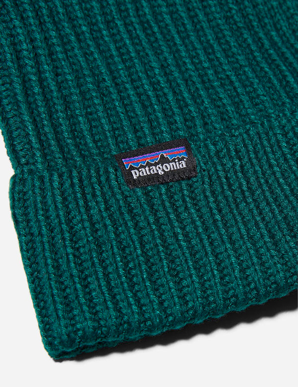 Patagonia Fisherman's Rolled Beanie Hat - Piki Green