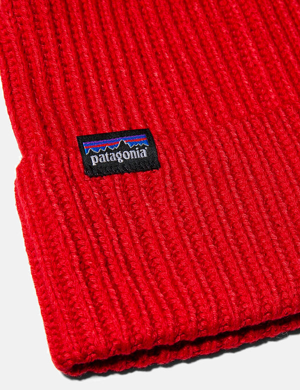 Patagonia Fisherman's Rolled Beanie Hat - Rincon Red