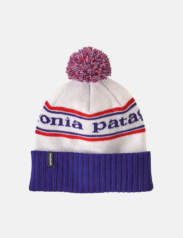 Patagonia Powder Town Beanie (Park Stripe) - Viking Blue