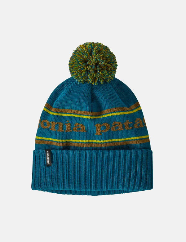 Bonnet Patagonia Powder Town (Park Stripe Knit) - Crater Blue