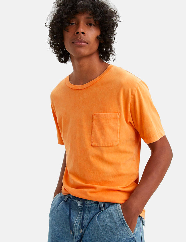 Levis Made & Crafted Pocket T-Shirt - Washed Orange