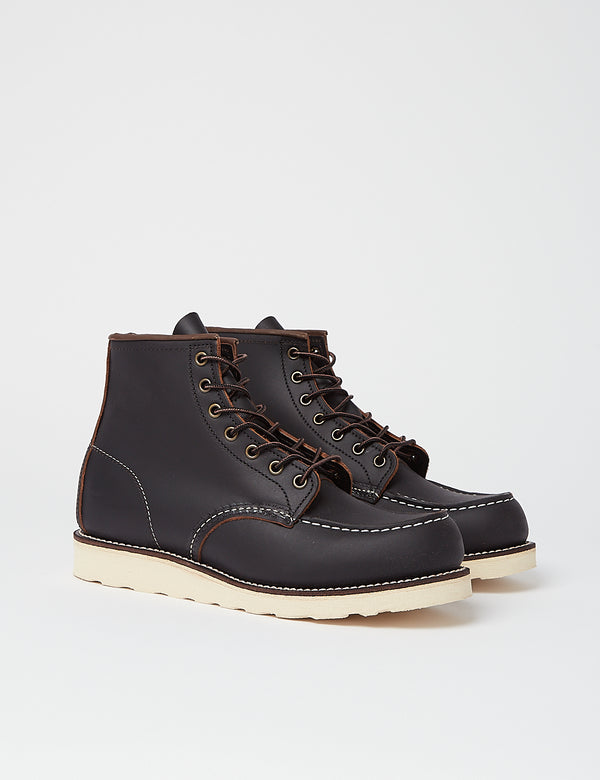 "Red Wing Heritage Work 6"" Moc Toe Boot (8849) - Black"