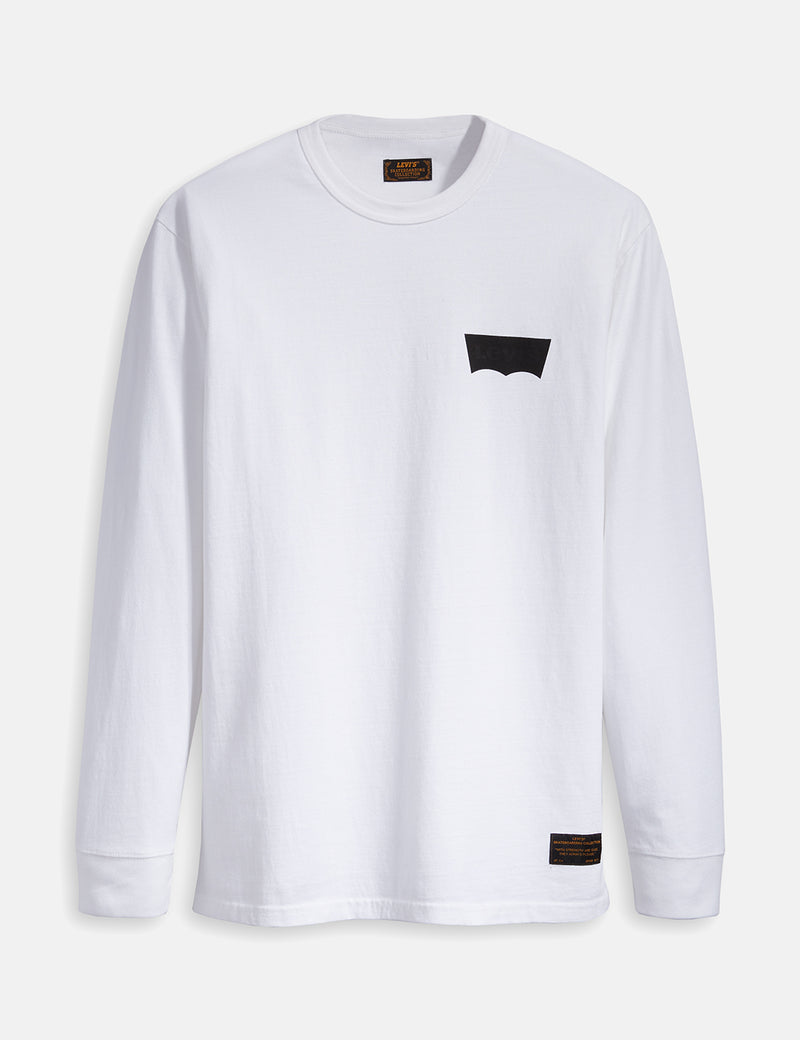 Levis Skate Graphic Long Sleeve T-Shirt - LSC White/Batwing