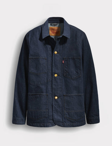 Levis Utility Selvedge Denim Coat - Carl Blue