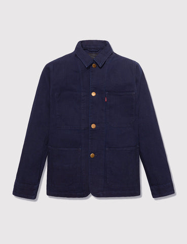 Levis Engineers Worker Jacket - Indigo Herringbone