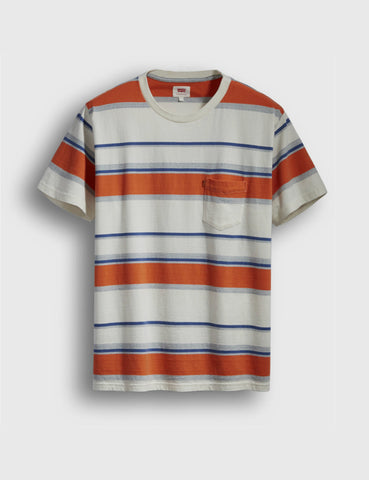 Levis Orange Tab Pocket T-shirt - Blue/Orange/Yellow
