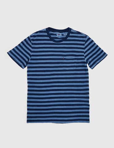 Levis Sunset Pocket T-shirt (Stripe) - Navy/Blue