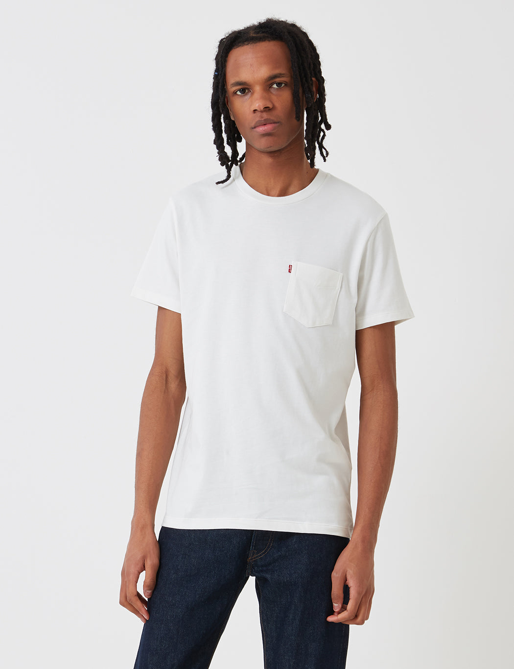 Levis Set-In Sunset Pocket T-Shirt - White Smoke