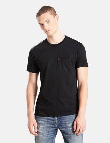 Levis Set-In Sunset Pocket T-Shirt - Mineral Black