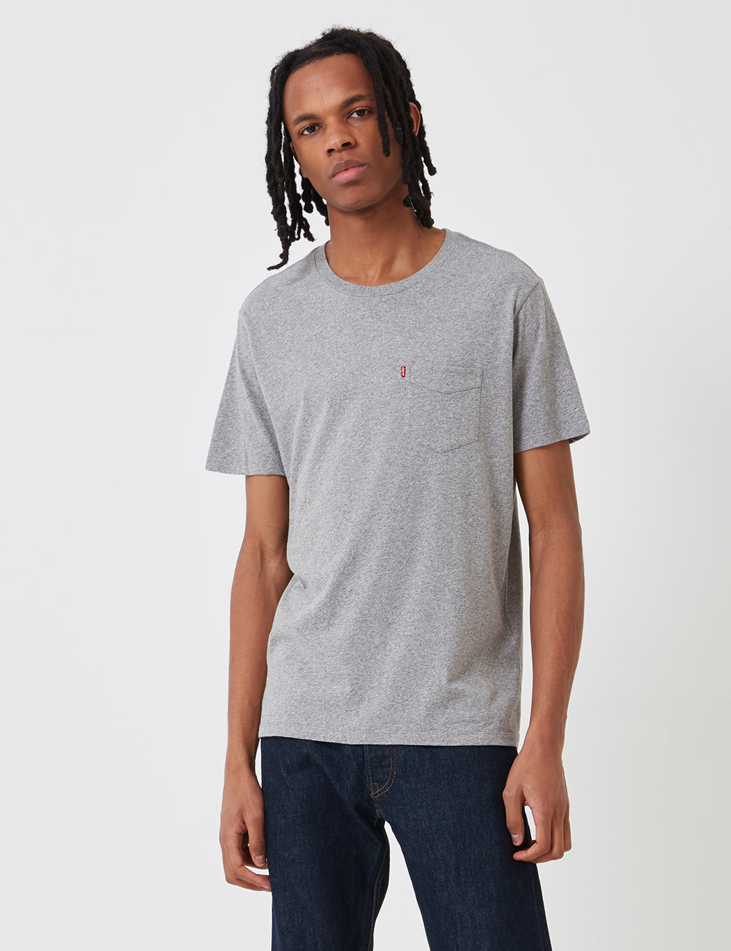 Levis Sunset Pocket T-Shirt - Medium Grey Heather