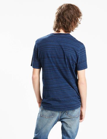 Levis Sunset Pocket Stripe T-Shirt - Dark Indigo Blue