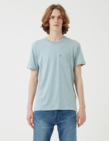 Levis Sunset Pocket T-shirt - Cameo Blue Heather