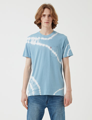 Levis Sunset Pocket Tie Dye T-shirt - Allure Blue