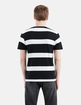 Levis Set-In Sunset Pocket T-shirt (Stripe) - White/Black