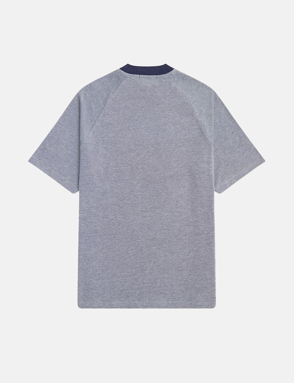 T-Shirt Fred Perry Two Tone Pique - Carbon Blue